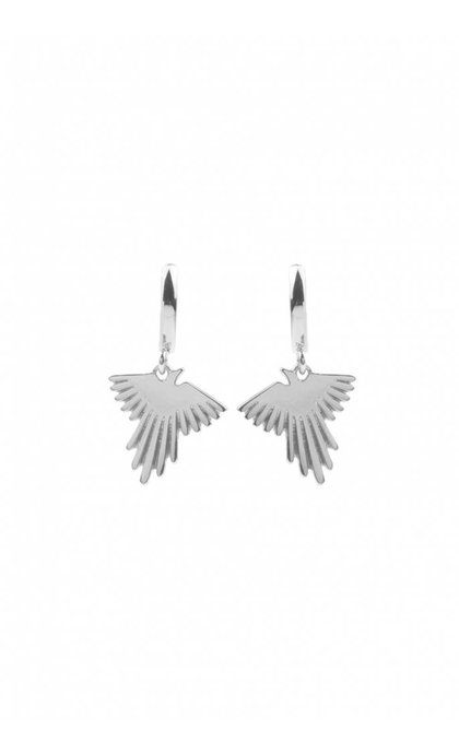 All the Luck in the World Souvenir Earrings Eagle Silver