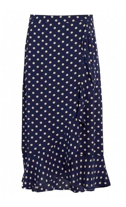 Leon and Harper Jelaly Skirt Dots Blue