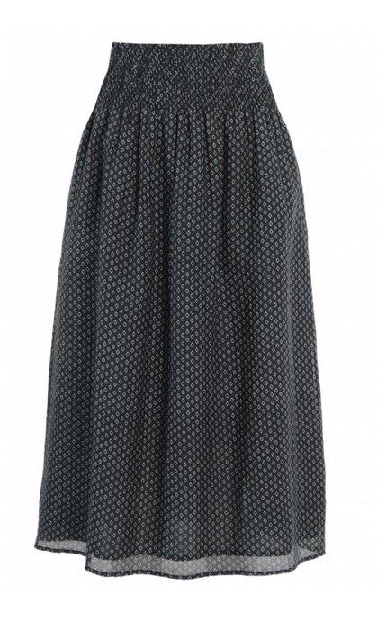 Leon and Harper Juillet Long Skirt Cravate Black