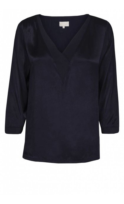 Minus Galissa Blouse Black Iris
