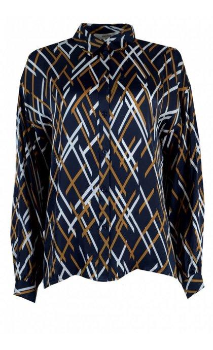 Gestuz Vinta Woven Shirt Vintage Blue