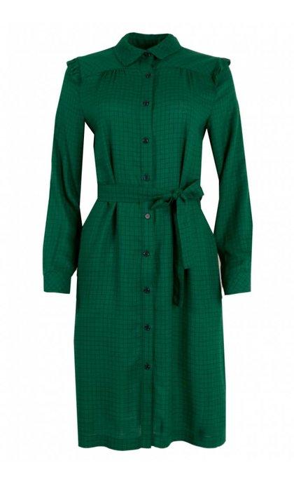 La Petite Francaise Raleuse Dress Carreaux Vert