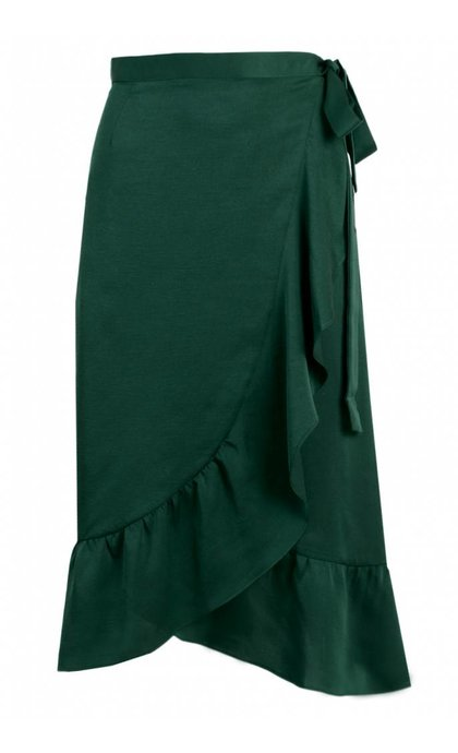 Neo Noir Mika Solid Skirt Dark Green
