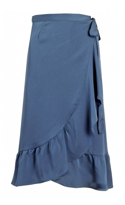 Neo Noir Mika Solid Skirt Blue