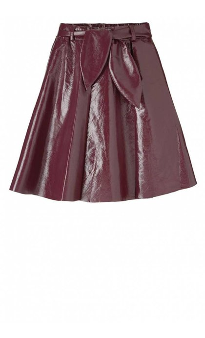 Modstrom Jana Shiny Skirt Dark Cherry