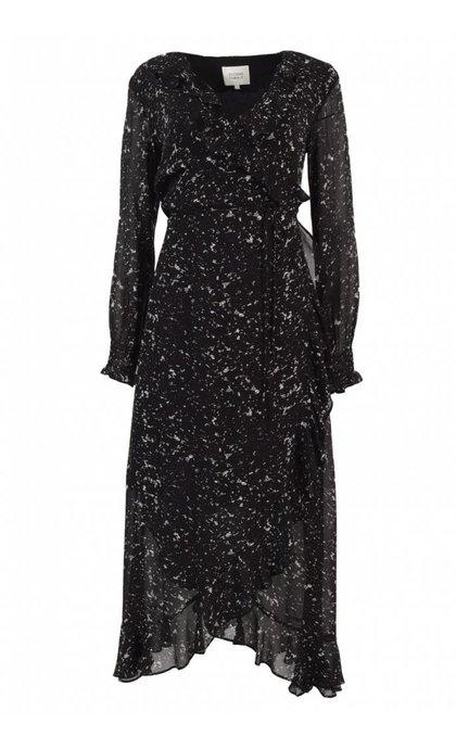 Second Female Larvikit Wrap Dress Black