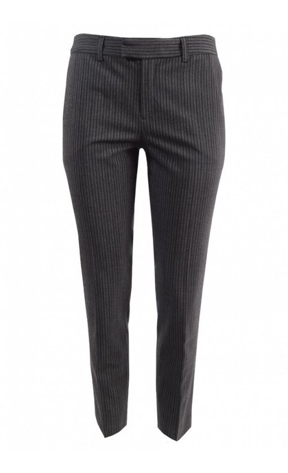 Leon and Harper Palmora Pantalon Anthracite Stripes