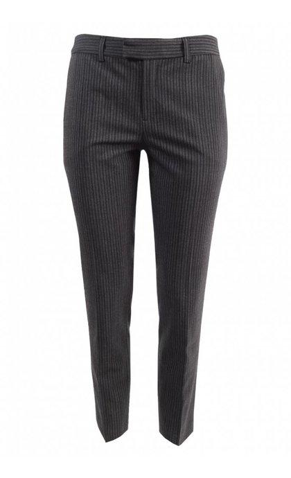 Leon and Harper Palmora Pantalon Anthracite Stripes