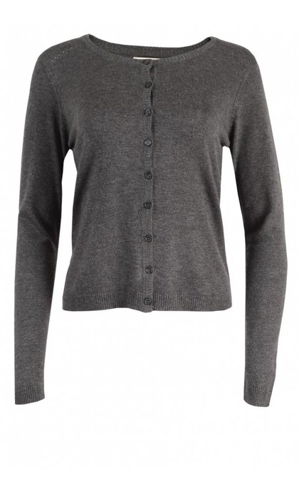 Minus New Laura Cardigan Dark Grey Melange