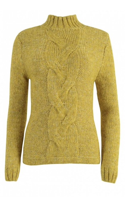 Alchemist Recycled Wool Cable Sweater Honey
