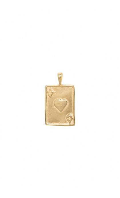 Anna + Nina Ace Necklace Charm Goldplated