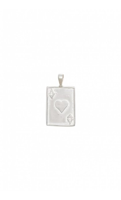 Anna + Nina Ace Necklace Charm Silver