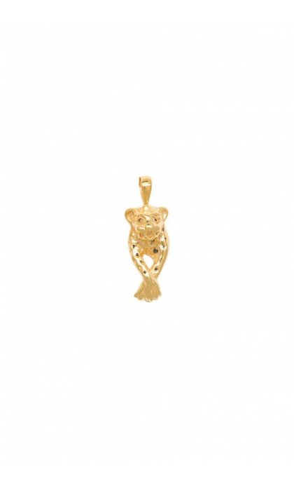 Anna + Nina Leopard Necklace Charm Goldplated