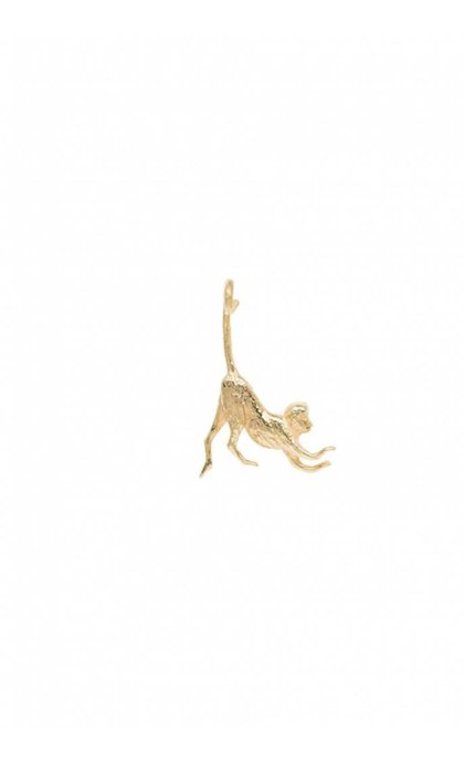 Anna + Nina Monkey Necklace Charm Goldplated
