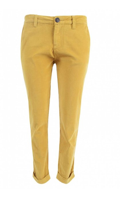 MKT Studio The Monroe Velvet Cropped Pants Honey
