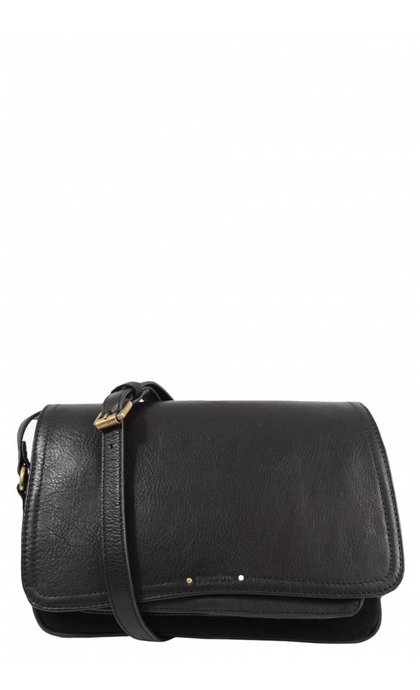Sessun Tano Leather Bag Black