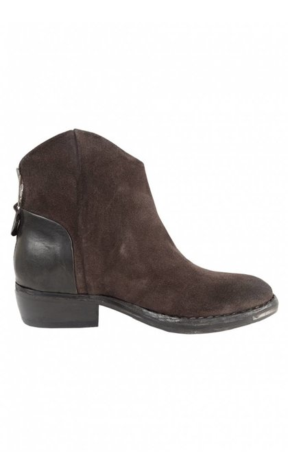 Catarina Martins Nomad Suede And Leather Low Boot Antracita Asfalt
