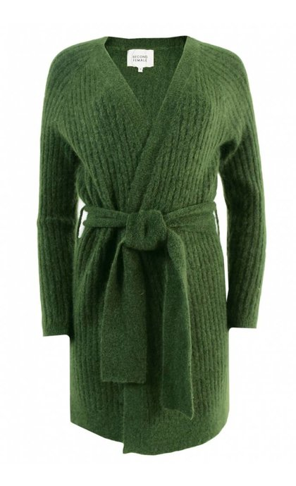 Second Female Alissa Knit Cape Riffle Green