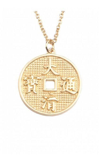 All the Luck in the World East Necklace Lucky Coin Goldplated
