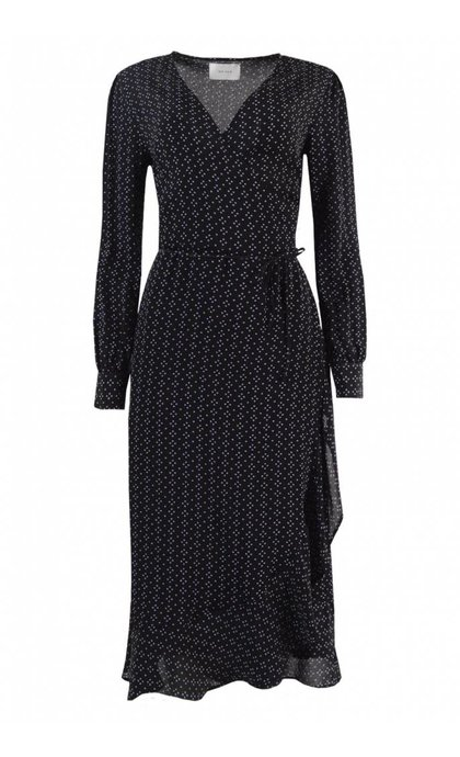 Neo Noir Anjuska Dot Dress Black