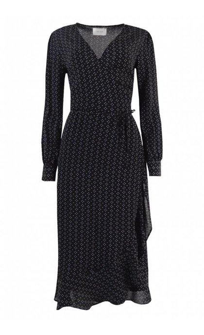 Neo Noir Anjuska Dot Dress Black