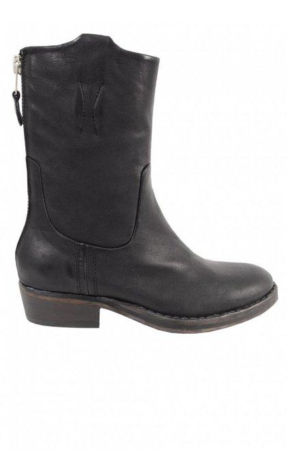 Catarina Martins Nomad Leather Mid Boot Black