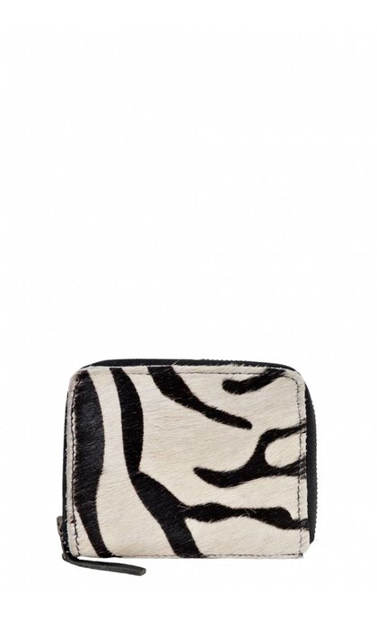 Elvy Wallet Skin Zebra Black