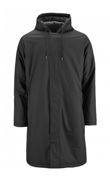 Rains Padded Coat Black