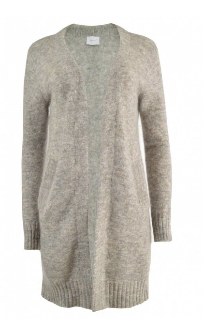 Neo Noir Gina Cardigan Light Grey Melange