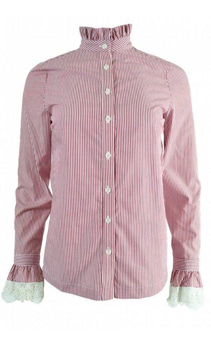 La Petite Francaise Cabotine Shirt Rayure Bordeaux