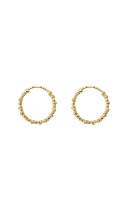 Anna + Nina Cluster Ring Earring Small Silver Goldplated