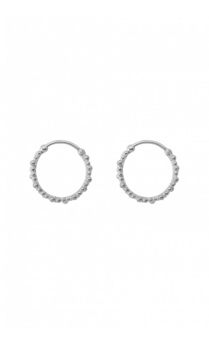 Anna + Nina Cluster Ring Earring Small Silver