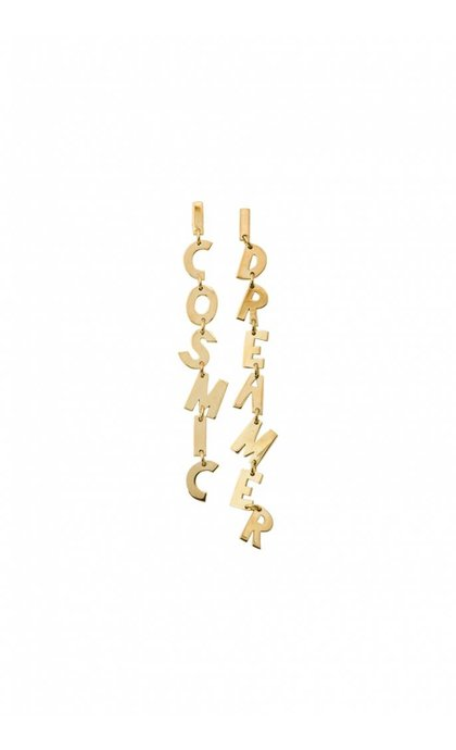 Anna + Nina Cosmic Dreamer Earring Brass Goldplated