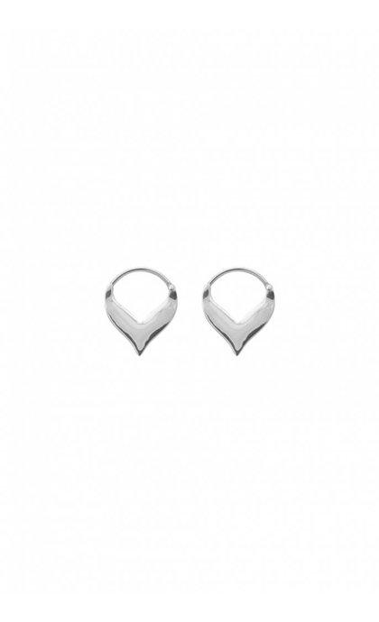 Anna + Nina Flame Earring Silver
