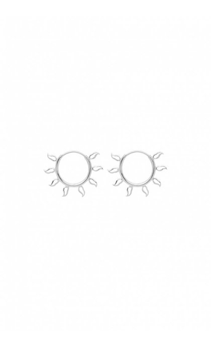 Anna + Nina Multi Flame Earring Small Silver