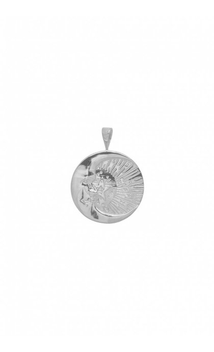 Anna + Nina Cosmic Necklace Charm Silver