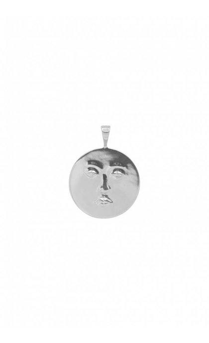 Anna + Nina Lunar Necklace Charm Silver