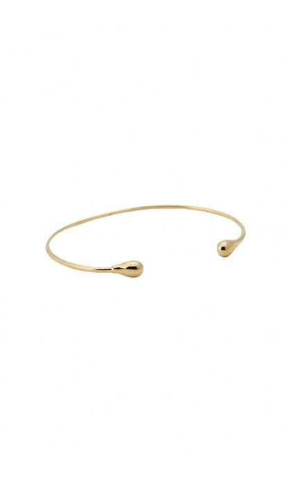 Anna + Nina Drop Cuff Silver Goldplated