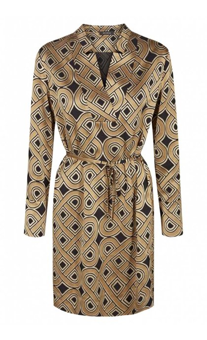 Mos Mosh Lipa Printed Dress Golden Print