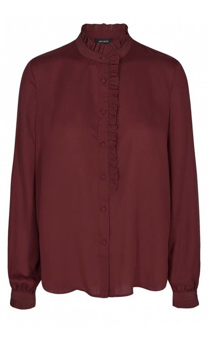 Mos Mosh Frida Shirt Syrah Red