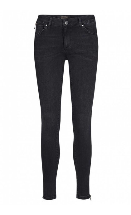 Mos Mosh Victoria Check Jeans Gray Denim