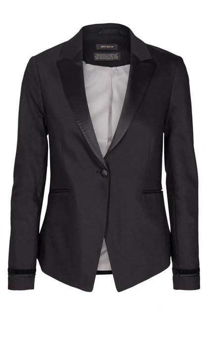 Mos Mosh Blake Smoking Blazer Black