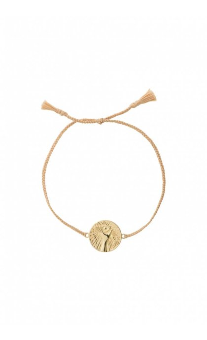 Anna + Nina Cosmic Thread Bracelet Pale Silver Goldplated