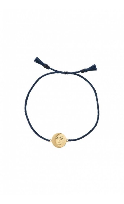 Anna + Nina Lunar Thread Bracelet Royal Blue Silver Goldplated