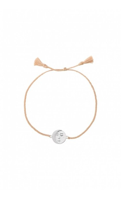 Anna + Nina Lunar Thread Bracelet Pale Silver