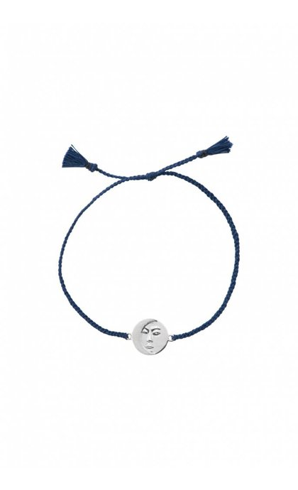 Anna + Nina Lunar Thread Bracelet Royal Blue Silver