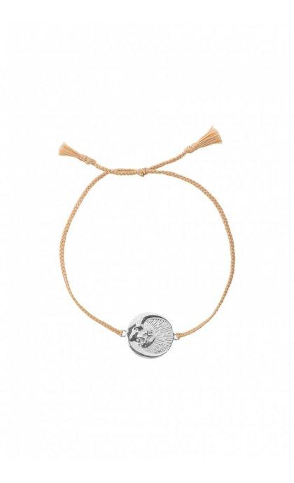 Anna + Nina Cosmic Thread Bracelet Pale Silver