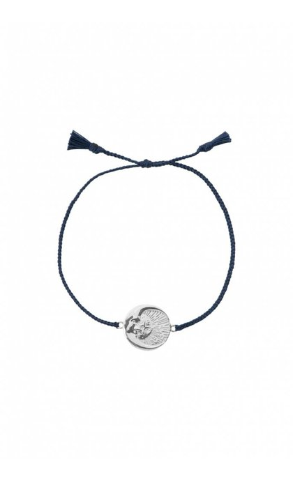 Anna + Nina Cosmic Thread Bracelet Royal Blue Silver