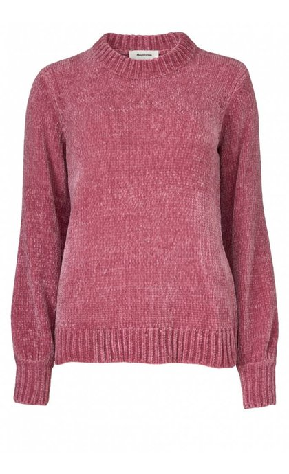 Modstrom Konnie O-Neck Rose Wine