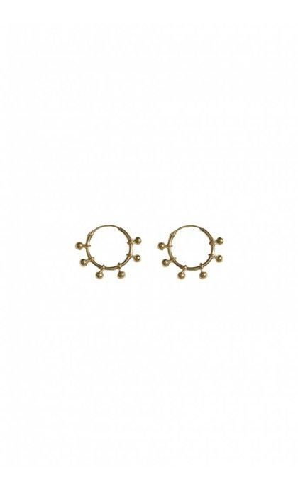 Fashionology River Hoop Earrings 15mm Goldplated